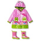 Girls' Wippette Frog Rain Coat and Rain Boots Set Pink