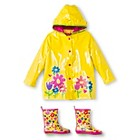 Girls' Wippette Flower Rain Jacket and Rain Boots Set Yellow