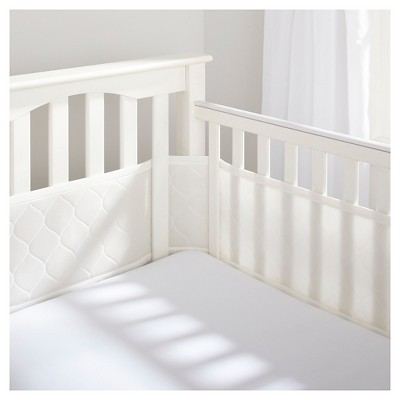 BreathableBaby® Deluxe Embossed Mesh Crib Liner - Natural