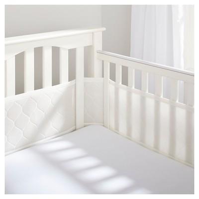 BreathableBaby® Deluxe Embossed Mesh Crib Liner - Natural