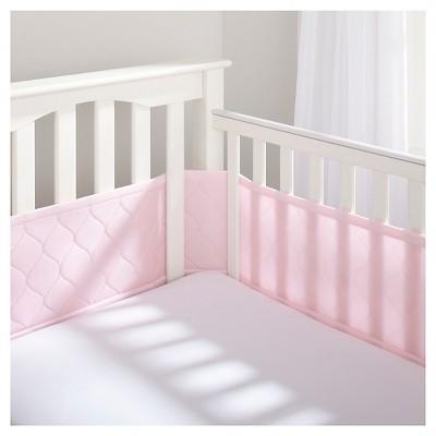 BreathableBaby® Deluxe Embossed Mesh Crib Liner - Pink