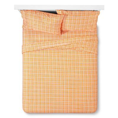 Grid Sheet Set Queen - Orange Sabrina Soto®