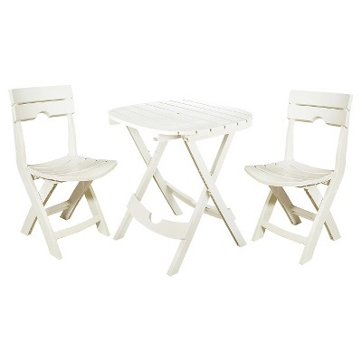 Adams 3-Piece Quick Fold Café Set - White