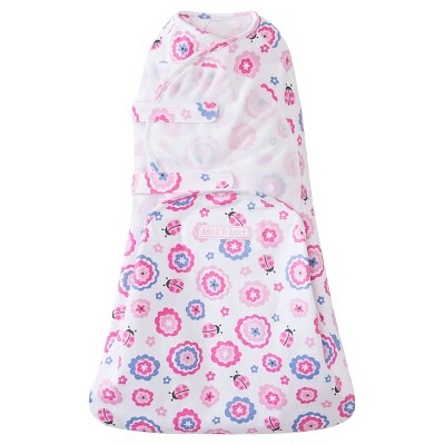 HALO® SwaddleSure™ adjustable swaddle wrap - Ladybug Flower - Newborn