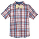 Boys' Button Down Shirt with Bow Tie - Red & Yellow