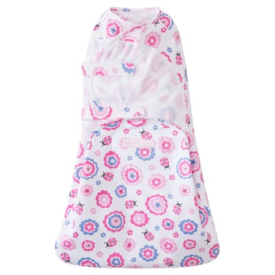 HALO® SwaddleSure™ adjustable swaddle wrap - Ladybug Flower - Small