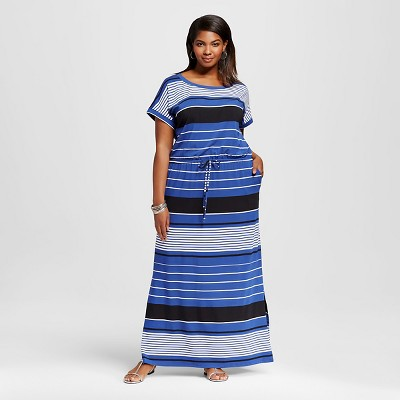 Women's Plus Size Maxi Dress Sundown Blue X - Ava & Viv™