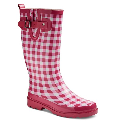 Luxury Dirty Laundry Women39s 39Rocky Top39 Red Red Plaid Rain Boots  Fre