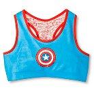 Captain America Girls' Racer Sports Bra - Multicolored S