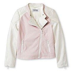 CoffeeShop Kids Girls' Faux Leather Motocross Jacket  - Pink