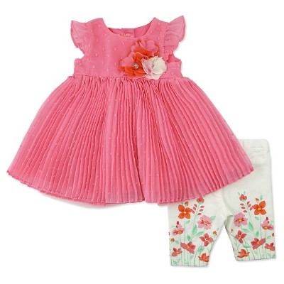 Female Top And Bottom Sets Baby Grand Signature 3-6 M Orange Sorbet