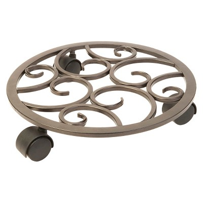 "Panacea 12"" Plant Caddy - Brown"
