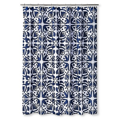 "Cabana Shower Curtain (72""x72"") Navy/White - Sabrina Soto"