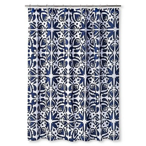 cabana shower curtain 72 x72 navy white sabrina soto product