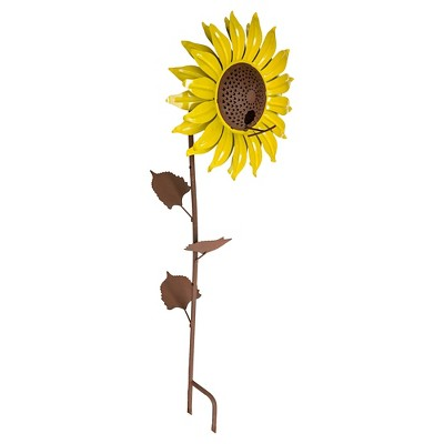Desert Steel Sunflower Bird Feeder - Yellow