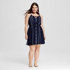 Women's Plus Size Embellished Short Knit Dress - Merona ™