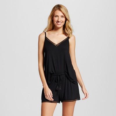 Women's Pajama Set Fluid Knit Black XXL - Gilligan & O'Malley