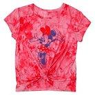Girls' Minne Mouse Tie Dye T-Shirt Coral XS (4-5)