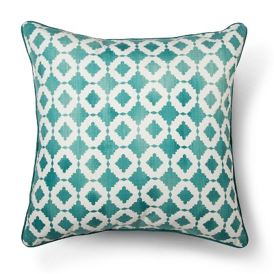 Blue Geo Oversized Throw Pillow