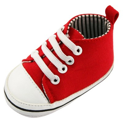 Baby Boys' Rising Star High Top Sneaker Crib Shoes Red 6-9M