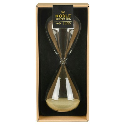 Noble Supply Co.™ Hourglass Sand Timer - Clear/Gold