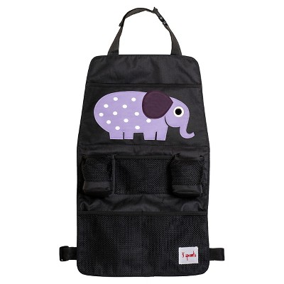 3 Sprouts Car Back Seat Organizer - Elephant