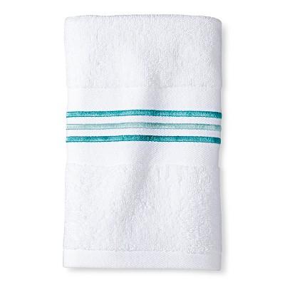 "Tulum Hand Towel (16""x28"") Aqua/White - Sabrina Soto"