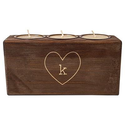 Monogram Heart Rustic Sugar Mold Unity Candle - K