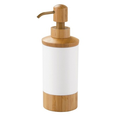 InterDesign Formbu Soap Pump Dispenser - White/Natural, 10 oz.
