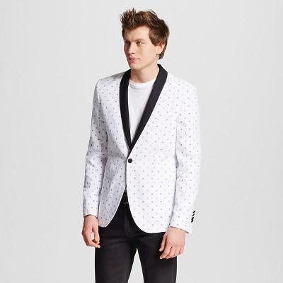 Men's Slim Fit Anchor Print Jacket White XL - WD·NY Black
