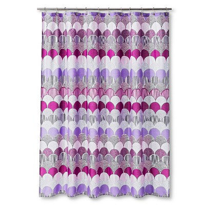 "Sabrina Soto Riley Shower Curtain - Pink/Purple (72""x72"")"