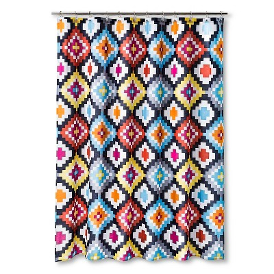 "Sabrina Soto Lucy Shower Curtain - Multi-Colored (72""x72"")"