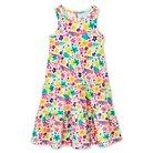 Toddler Girls' Multi-Colored Floral Print Short Dress White 5T - Circo™