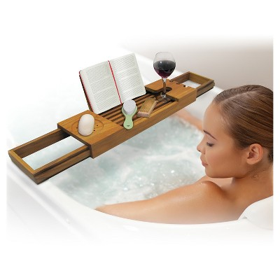 Teak Bathtub Caddy Sharper Image