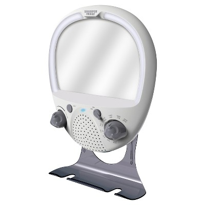 AM/FM Shower Radio with Fog Free Mirror Sharper Image