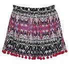 Girls' Franki & Jack Printed Shorts with Pom Poms - Pink L