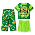 Toddler Boys' Teenage Mutant Ninja Turtles 3-Piece Pajama Set - Green 4T
