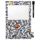 Yoobi™ x i am OTHER Magnetic White Board with Pocket and Dry Erase Marker - DIY