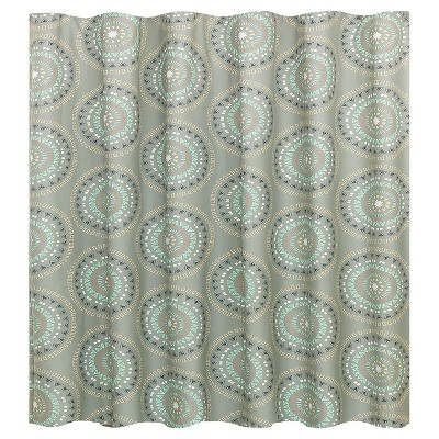 Room Essentials™ Medallion Shower Curtain - Gray/Turquoise
