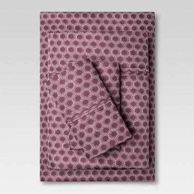 Sheet Set 300 Thread Count (King) Purple Hexagon - Threshold™