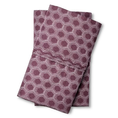 Pillowcase Set 300 Thread Count (King) Purple Hexagon - Threshold™