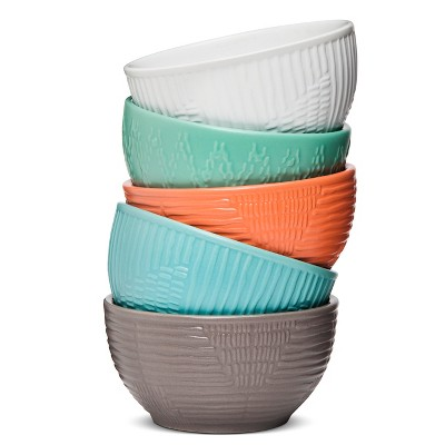 Textured Stoneware Dip Bowls Set of 5 - Room Essentials™