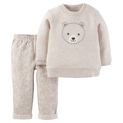 Just One You™Made by Carter's® Newborn Boys' 2 Piece Set – Cream 3M