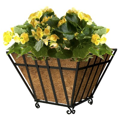 "Panacea 14"" English Wide Band Square Planter - Black"