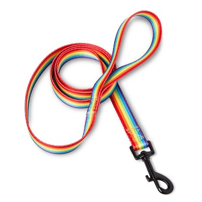 Pride Bow & Arrow Rainbow Stripe Dog Leash