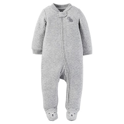 Just One You™Made by Carter's® Newborn Boys' Footed Sleeper – Grey 3M