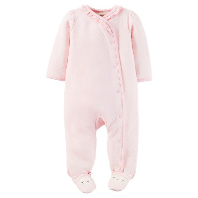 Just One You™Made by Carter's® Newborn Girls' Footed Sleeper – Pink 9M
