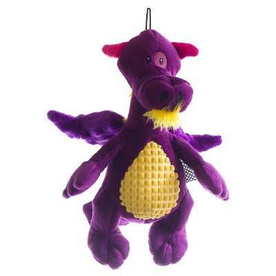 TrustyPup Dragon Plush Dog Toy - Purple (Medium)