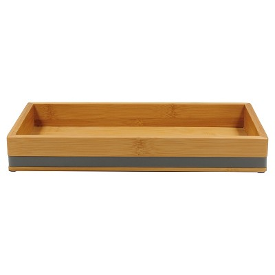 Room Essentials™ Soft Bamboo Tray - Gray