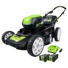 "Greenworks Pro 21"" Lawn Mower - 2Ah Batteries and Charger Included"